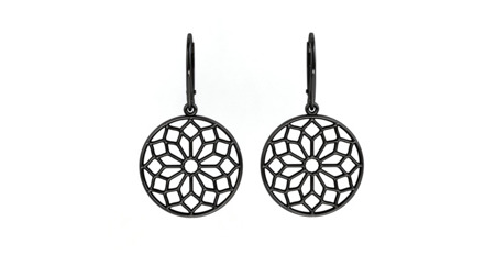 Earrings Chartres Black