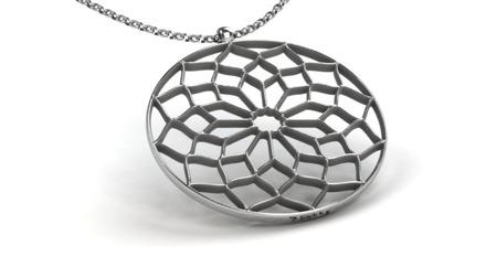 Halskette Chartres Weiß