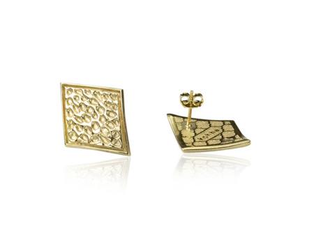 Kolczyki pozłacane Vesuvio Gold