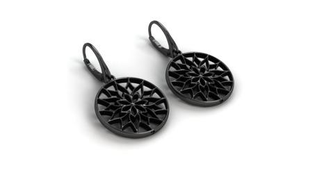 Kolczyki srebrne Yorkshire Black