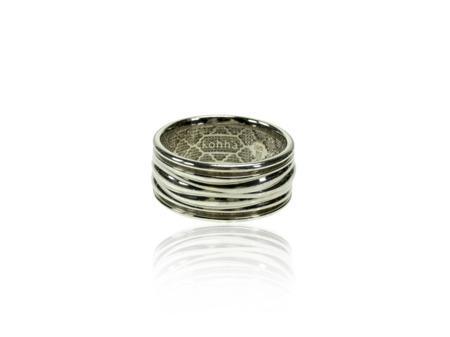 Obrączka srebrna Baltic White