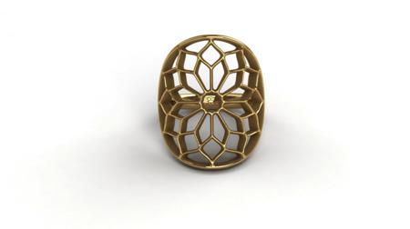 Pierścionek pozłacany Chartres Gold