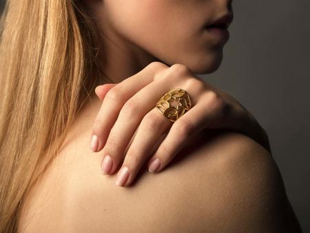 Pierścionek srebrny Milano Gold